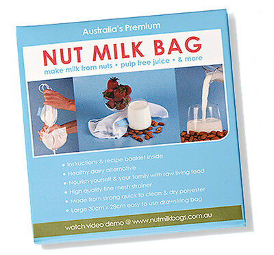 Living Synergy Nut Milk Bag incl recipes sprouting straining juicing wheat grass