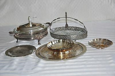 Beautiful lot of silver-plated Serving Dishes - 10 pieces - Very Good Condition