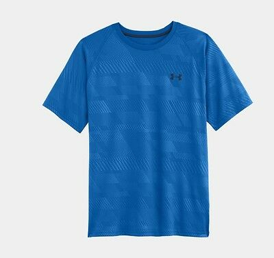 Under Armour T-SHIRT MENS UA TECH PATTERNED 1236401 Scatter Blue 406 L Large