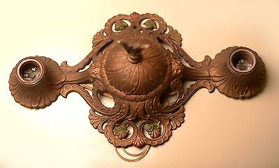 1920s cast iron ceiling light fixture