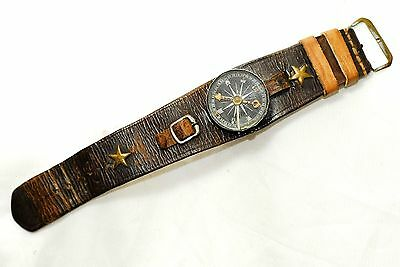 Orig WW2 Japanese Army Officer's Compass,Watch type Wearable very Rare ! #302