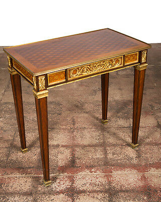 19th century Louis XVI Bronze Mounted French Side Table c.1880s