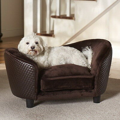Enchanted Home Dog Pet Cat ULTRA PLUSH Snuggle Bed Lounge Pet Furniture Brown