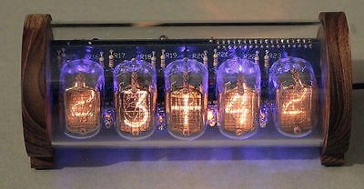 5-tube Nixie Clock V3 (DIY Kit, with Perspex and Teak case)