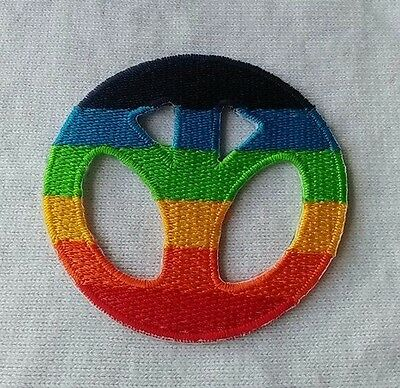 Peace Sign gay lesbian pride rainbow LGBT applique iron-on patch