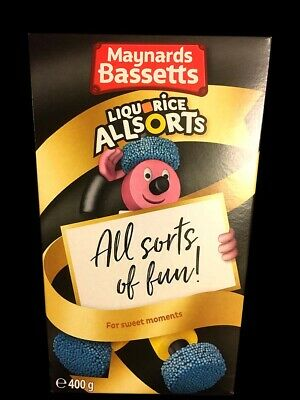 UK Maynards Bassetts Liquorice Allsorts Gift Box 400g  Liquorice All Sorts