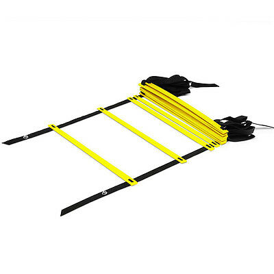 9-Rung Agility Ladder Adjustable Speed Training Equipment for Soccer Football MB