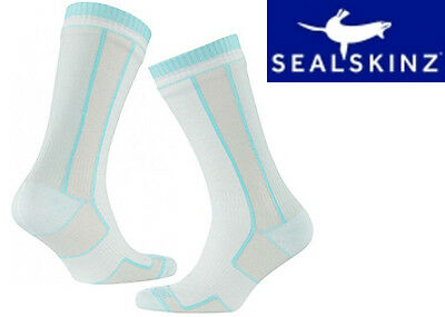 SealSkinz Women's Thin Mid Length Socks Totally Waterproof Camping Cycling Sport