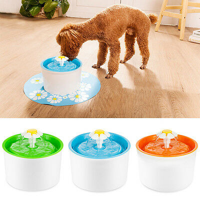 New Automatic Cat Dog Kitten Water Drinking Fountatin Pet Bowl Dish Drink Filter