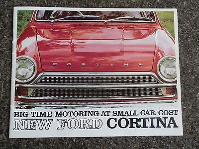 1965 Ford Cortina Sales Brochure  Covers All Models Inc The Gt 100% Guarantee