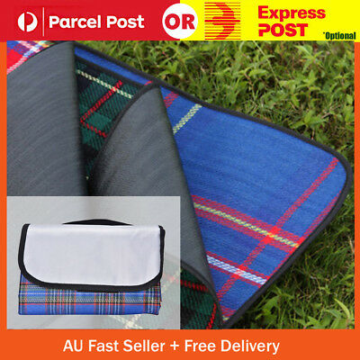 Red 180x150cm Light Outdoor Travel Camping Waterproof Mat Picnic Blanket Rug AU