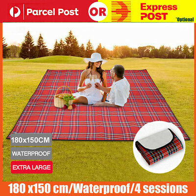 180x150cm 3 Color Light Outdoor Travel Camping Waterproof Mat Picnic Blanket Rug