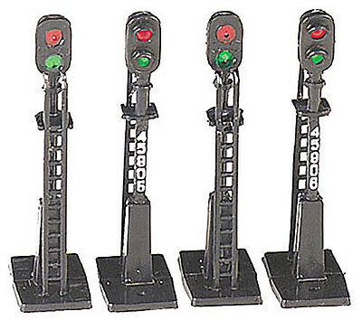 Railway Signals x 4 to a pack - non working - HO Model Trains