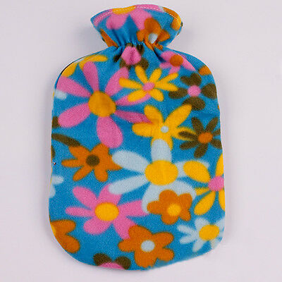 New Large Hot Water Bottle Quality Hot Water Bottle Case Cover Beautiful flannel