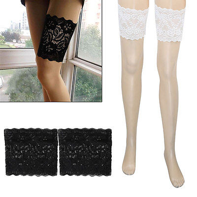 Women Sexy Lace Soft Elastic Stretch Thigh Bands Non Slip Chafing Prevent Socks