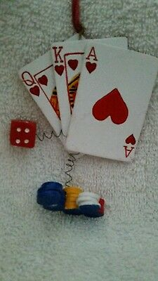 Deck of cards ornament  with dice