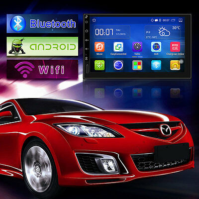 "7"" Autoradio Android 5.1 2 Din Stereo Quad Core Car Bluetooth Radio GPS/NAVI/AND"