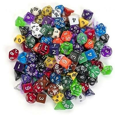 Lot of 7PCs Different TRPG Games DND Multi-Sided Dungeons & Dragons Dices