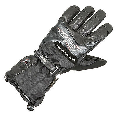RST Thermotech Heated Waterproof Leather Motorcycle Gloves - Black
