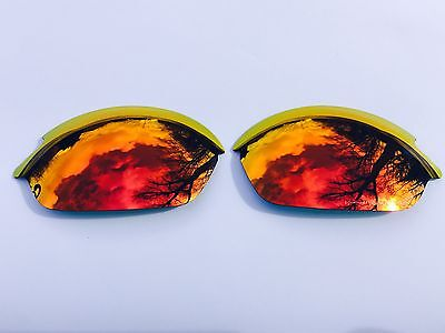 New Polarized Fire Red Custom Mirrored Replacement Oakley Romeo 2.0 Lenses