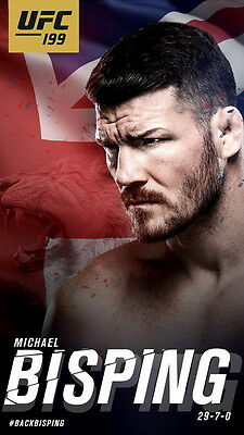 "TY05951 Michael Bisping - English Boxing MMA UFC Champion 14""x24"" Poster"