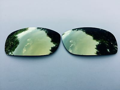 NEW POLARIZED 24k GOLD MIRRORED REPLACEMENT OAKLEY FIVES SQUARED & 3.0 LENSES
