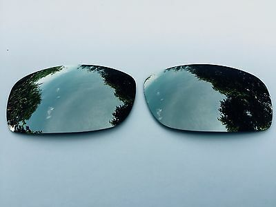New Polarized Silver Mirrored Replacement Oakley Fives Squared & 3.0 Lenses