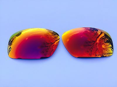 New Engraved Polarized Fire Red Revo Mirrored Replacement Oakley Scalpel Lenses