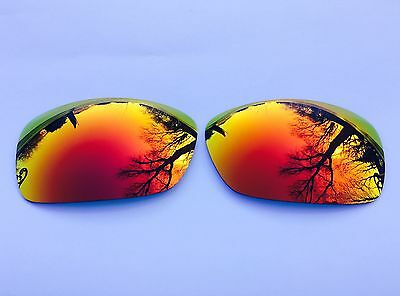 New Engraved Polarized Fire Red Mirrored Replacement Oakley Hijinx Lenses