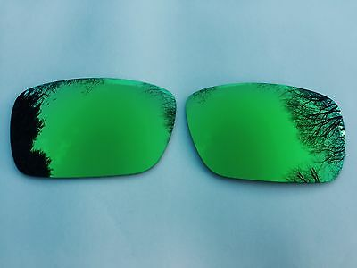 New Polarized Lime Green Mirrored Replacement Oakley Fuel Cell Lenses