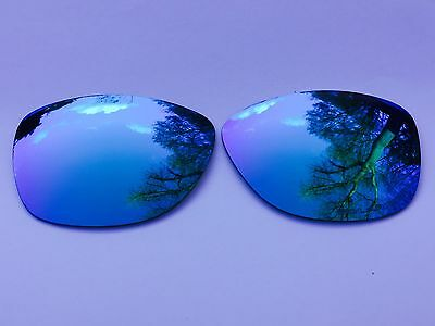 New Engraved Polarized Ice Blue Mirrored Replacement Oakley Jupiter Lenses