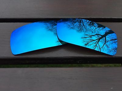 New Polarized Ice Blue Custom Mirrored Replacement Oakley Gascan Lenses