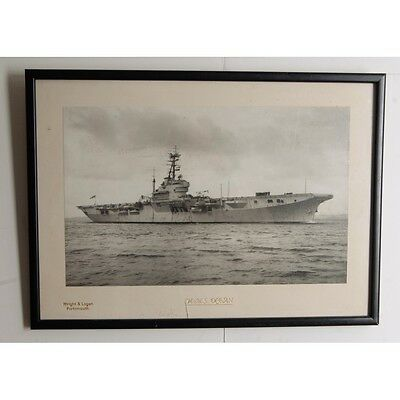 Framed Wright and Logan Photograph of H.M.S. Ocean