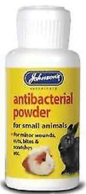 JOHNSONS ANTIBACTERIAL POWDER SMALL ANIMALS rabbit guinea pig minor cuts bites
