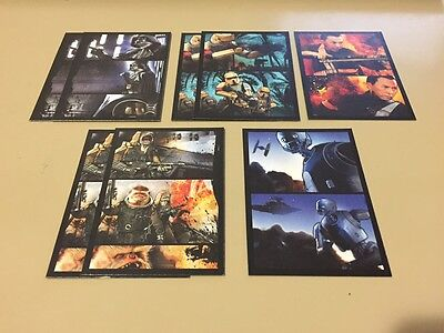 Star Wars Rogue One Mission Briefing - Comic Strip Chase Card LOT of 8 - NM