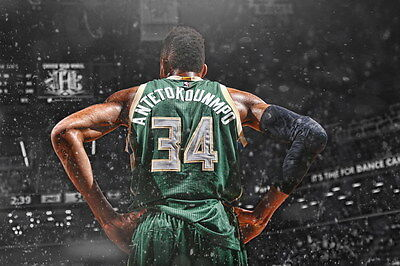 "TY06670 Giannis Antetokounmpo - Bucks Basketball NBA Star 21""x14"" Poster"