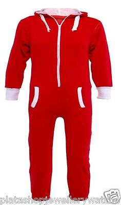 Kids Red Onesie Jumpsuit Playsuit All in One Age 7-8   Free Name embroidered