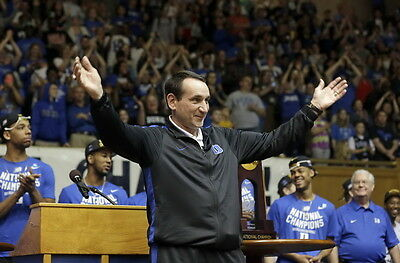 "TY06248 Mike Krzyzewski - Coach K  Basketball 1000 Wins 36""x24"" Poster"