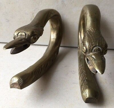 Antique Geese Solid Brass Door Handles Capitoline Geese Sacred Geese of Juno
