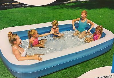 Family Inflatable Swimming Pool Paddling Garden Kids Children Play Outdoor Toy