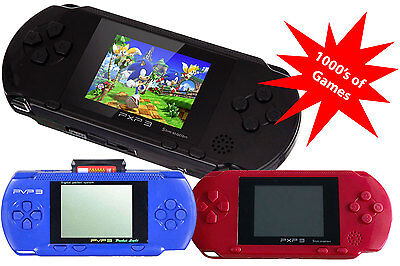PXP 3 Slim Station Games Console 100's of Games Portable 3 Colours