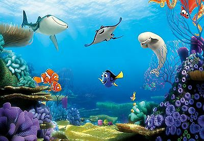 FINDING DORY by DISNEY Photo Wallpaper Wall Mural NEMO FISHES BLUE 368x254cm