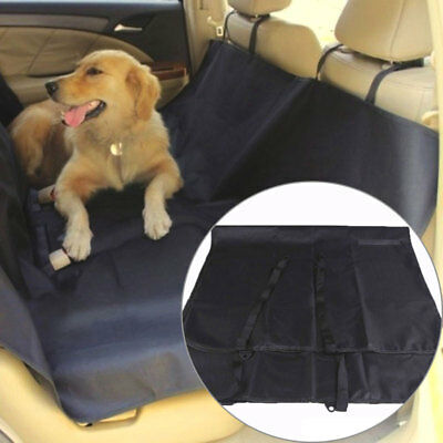 144CM Approx Square Large Car Pet Seat Cover in Black - Waterproof Washable Nylo