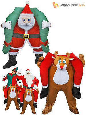 Carry Me Rudolph Reindeer Outfit Christmas Novelty Fancy Dress Costume One Size