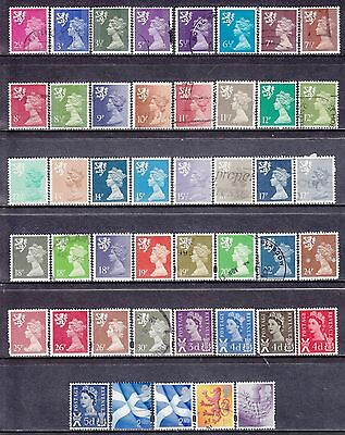 Collection Of 45 GB QEII SCOTLAND Regional Issues SG S Series Used Stamps