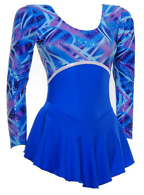Ice / Roller Skating Dress - Royal Blue Multi Hologram/Royal Blue Lycra