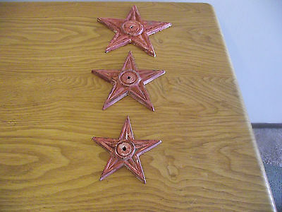 Lot 3 Cast Iron Stars Stress Industrial Arquitectural Texas Rustic Ranch Cowboy