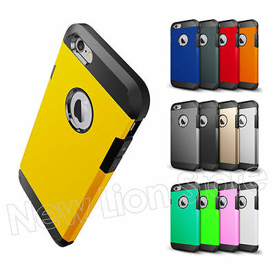 Slim Dual Layer Hybrid Shockproof Heavy Duty Hard Cover Case For iPhone 6/6 Plus