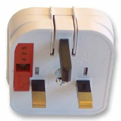 POWERCONNECTIONS - USA to UK Converter Plug, 10A, White