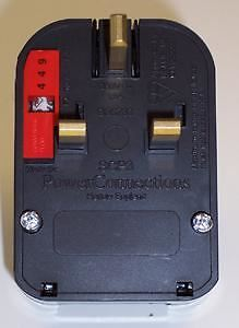 POWERCONNECTIONS - European Schuko to UK Converter Plug, 5A, Black (Grounded)